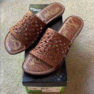 NIB Sam Edelman Genovia Woven Slide Sandals 9 9.5